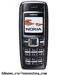 Nokia 1600 работает после того, как был съеден рыбой