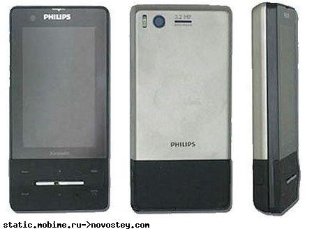 Philips Xenium X810 с сенсорным экраном и «долгоиграющей» батареей