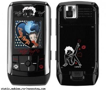 Мультяшный слайдер Samsung Betty Boop