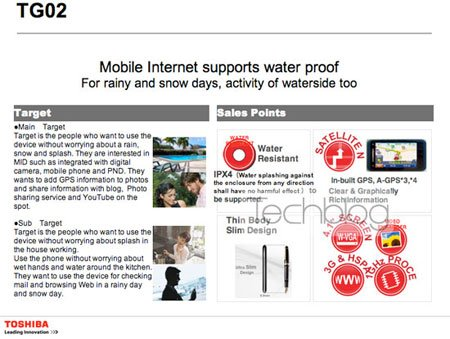 Toshiba готовит коммуникаторы TG02 и TG03 на базе Snapdragon 1 Гц