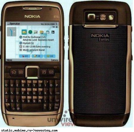 Как вам Nokia E71i с 5 мп камерой и ОС S60 FP2?