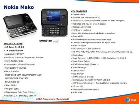 Смартфон Nokia Mako – финская новинка для AT&T