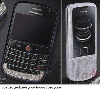 Телефоны класса «люкс» от Athem: Black Beauty (BlackBerry Bold) и Snow White (Nokia 8800)