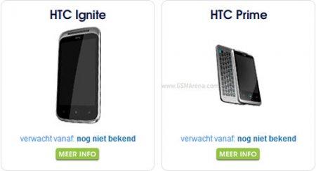 Смартфоны HTC Ignite и Prime на WP7 — скоро в продаже