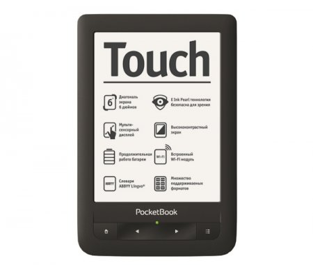 PocketBook Touch: тонкая читалка с сенсорным дисплеем E-Ink Pearl и Wi-Fi
