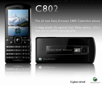 Концепт моноблочного камерофона Sony Ericsson C802
