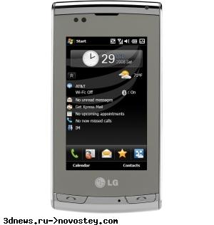 LG Incite: новый коммуникатор на Windows Mobile