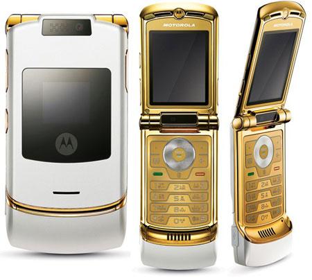 В Корее будет выпущен телефон Motorola RAZR LúK с позолоченным корпусом