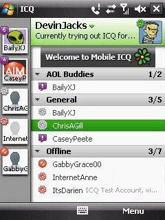 ICQ для Windows Mobile обновилось до версии 1.0.8.1 beta