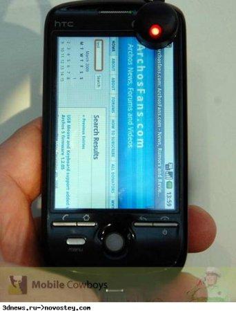Фотографии HTC Magic в черном цвете