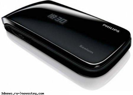 Стильная раскладушка Philips Xenium X530 ожидает вызова 850 часов