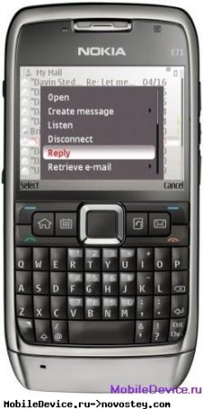 Nokia E71 в сети AT&T с 1 апреля