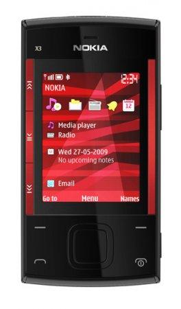 NW2009. Nokia X3 - бюджетный слайдер для любителей музыки
