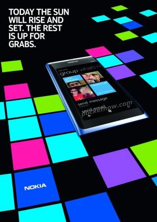 Фото дня: рекламные снимки смартфона Nokia с WP7 попали в Сеть