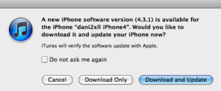 Для iPhone доступна новая версия iOS - 4.3.1